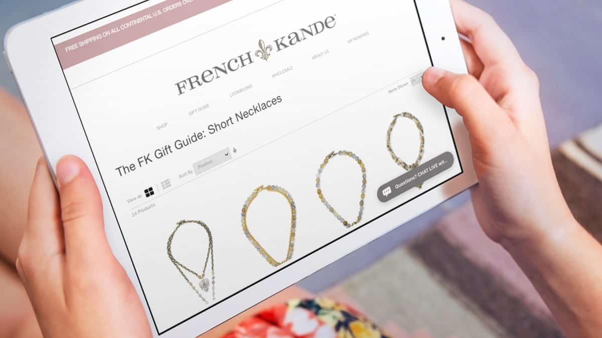 French Kande Website on iPad