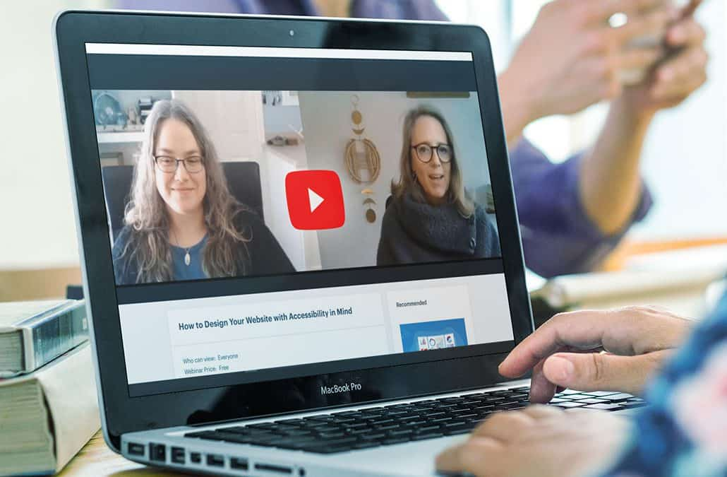 Accessibility expert Stephanie Glaser virtually meets with Danielle Dolloff in the webinar, How To Design Your Website With Accessibility In Mind.